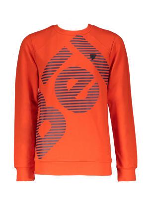 sweater Kone met logo donker oranje