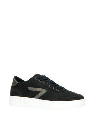 Baseline  leren sneakers donkerblauw