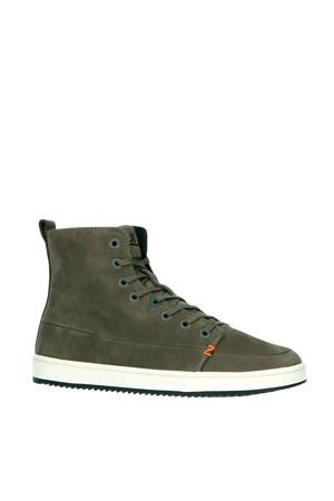 Base  leren sneakers grijs