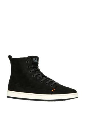 Base  hoge leren sneakers zwart