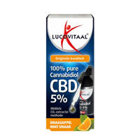 Lucovitaal CBD Cannabidiol olie 5% Sinaas-Mint smaak