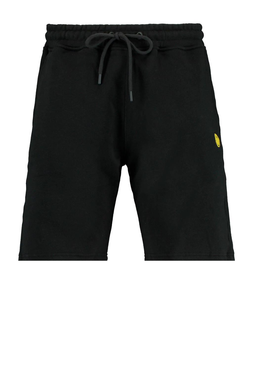 America Today regular fit sweatshort zwart/geel, Zwart/geel