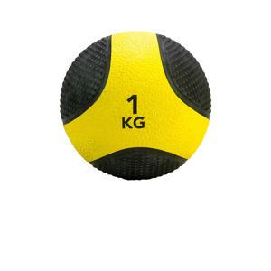 medicine ball 1 kg geel/zwart