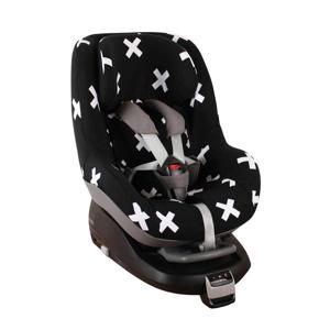 autostoelhoes Maxi Cosi voor Pearl (ook voor 2 Way) - Perfecte pasvorm - Zwart kruisjes