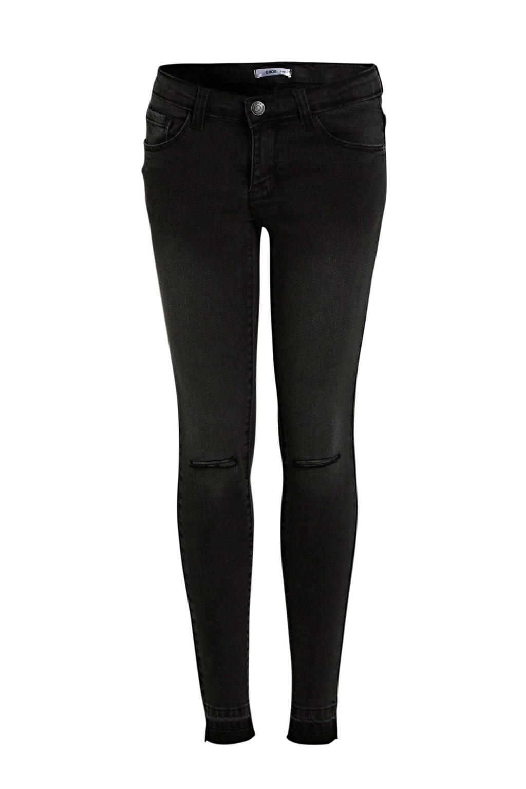 Ellos slim fit jeans York zwart, Zwart