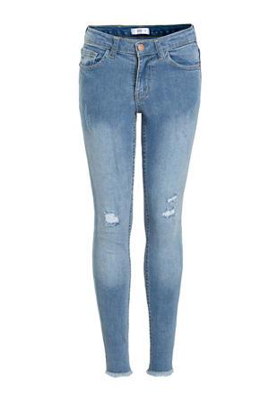 high waist slim fit jeans York lichtblauw