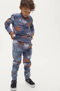 Ellos sweater Henry met all over print blauw/wit/rood, Blauw/wit/rood