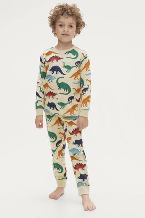 pyjama Jacob met all over dino print ecru/multicolor