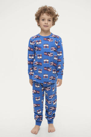pyjama Jacob met all over print blauw/multicolor