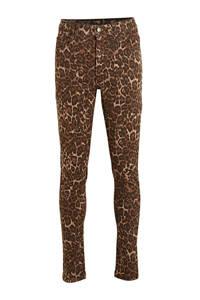 Ellos skinny broek Michell met panterprint bruin/zwart, Bruin/zwart