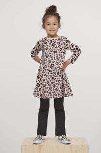 Ellos A-lijn jurk met panterprint roze/antraciet, Roze/antraciet