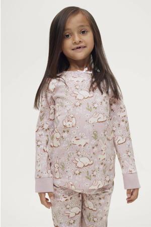 pyjama Anastasia met all over print lila/wit