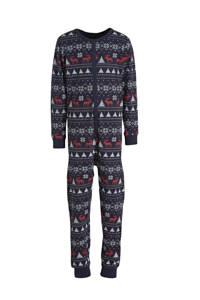 Ellos kerst onesie donkerblauw, Donkerblauw/rood/wit