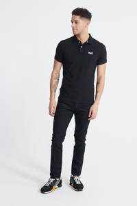 Superdry slim fit polo zwart, Zwart