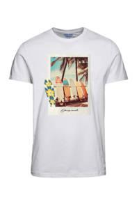 JACK & JONES ORIGINALS T-shirt met printopdruk wit, Wit