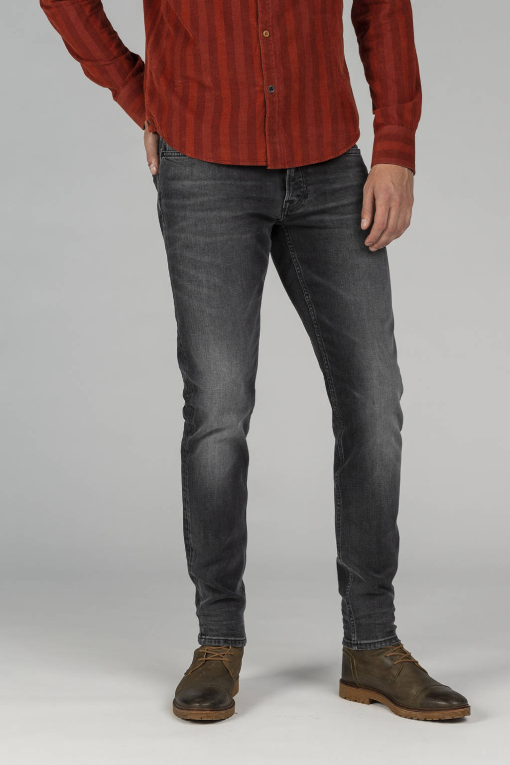 PME Legend tapered fit jeans Tailplane grijs, Grijs