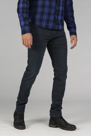 slim fit broek Nightflight straight  donkerblauw