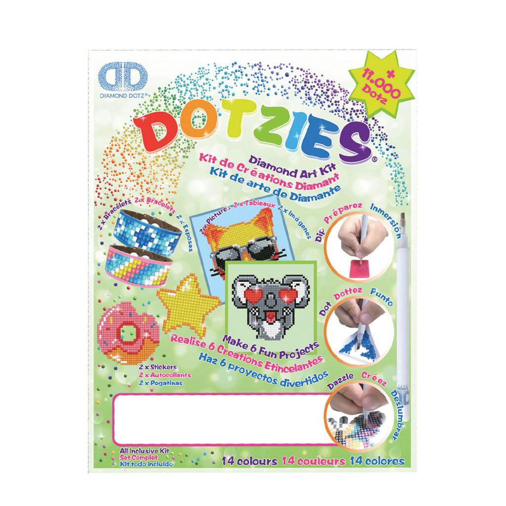 Diamond Dotz Megapack Dotzies 6-delig: groen