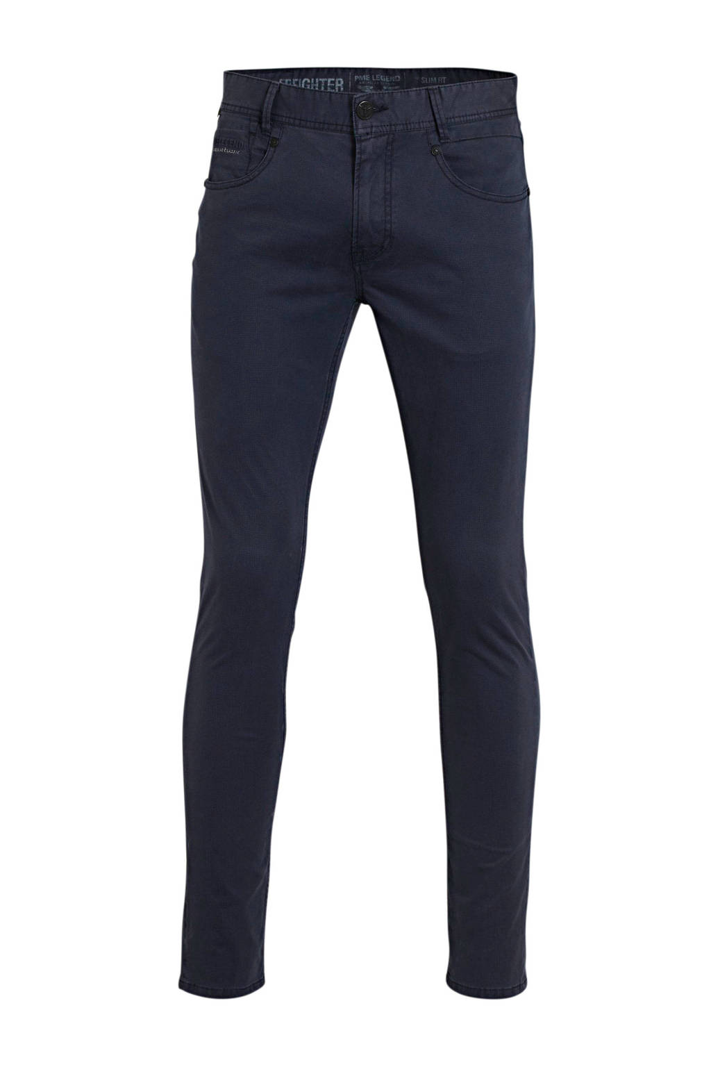 PME Legend slim fit broek donkerblauw, Donkerblauw