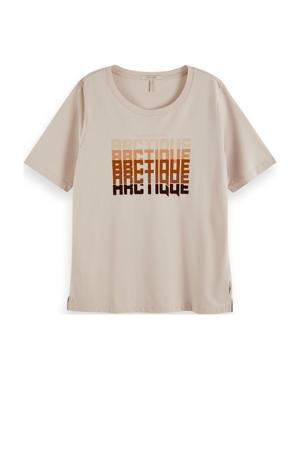T-shirt van biologisch katoen zand