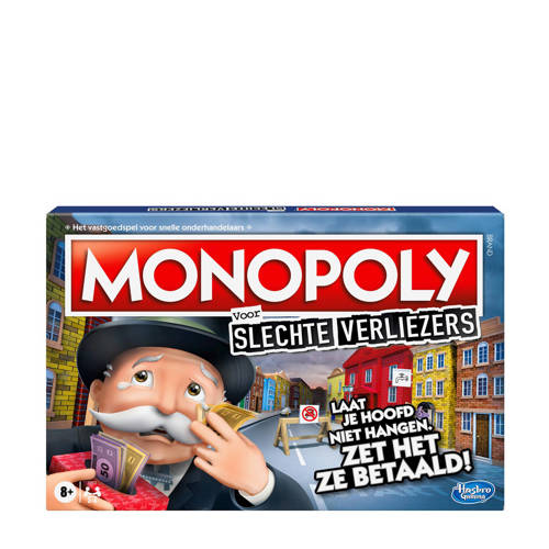 Wehkamp-Hasbro Gaming Monopoly Slechte Verliezers bordspel-aanbieding