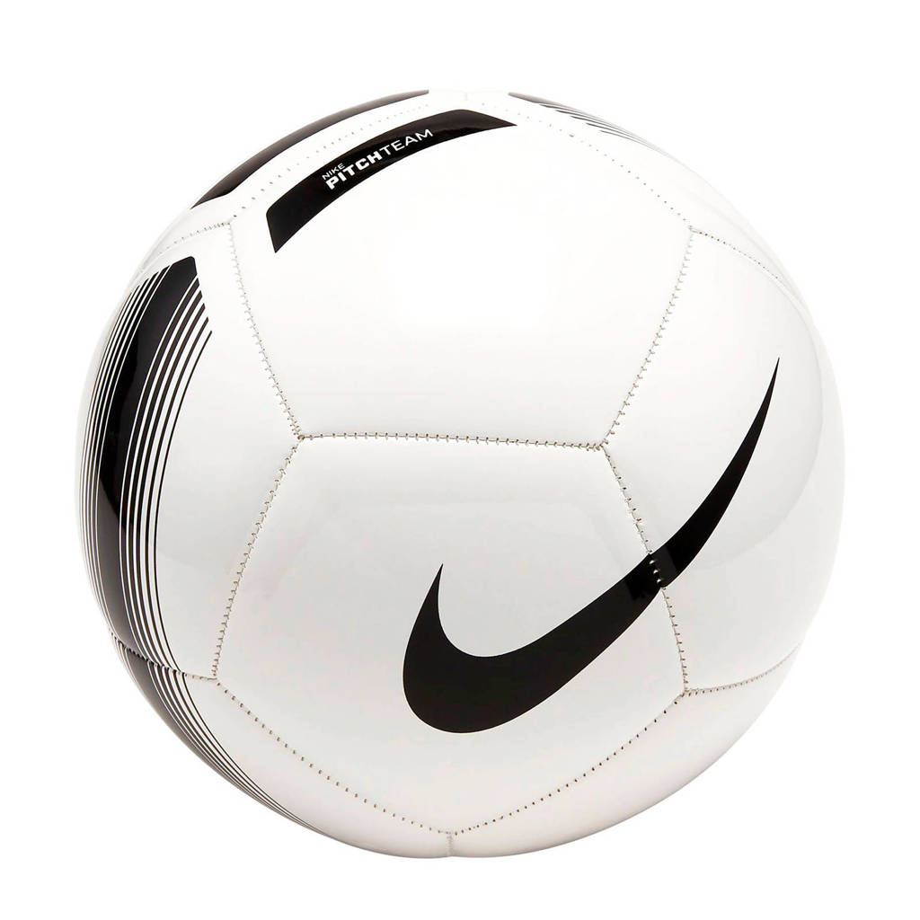 Nike   Pitch Team Football wit maat 5, Wit