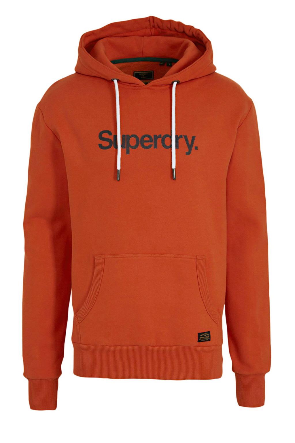 Superdry hoodie met logo brique, Brique