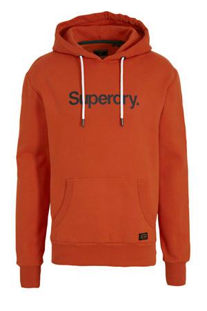 hoodie met logo brique