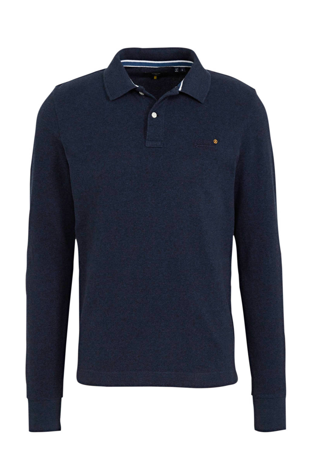 Superdry slim fit polo donkerblauw, Donkerblauw