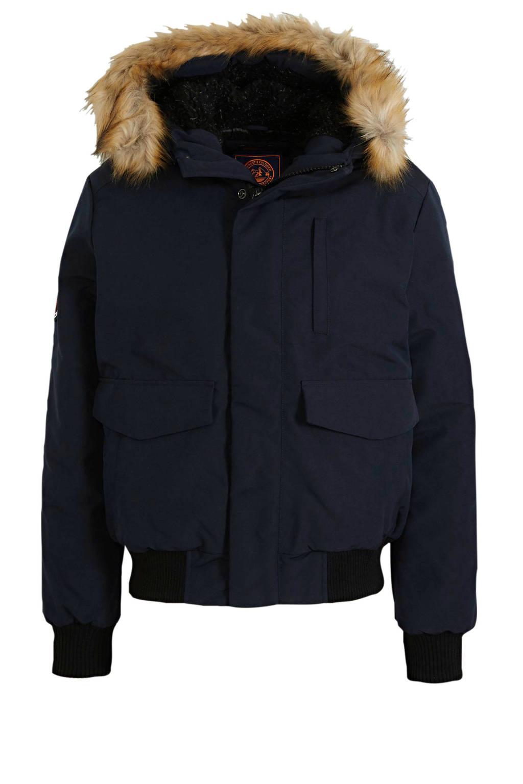 Superdry jas donkerblauw, Donkerblauw