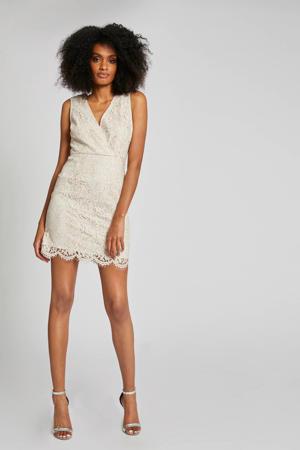 jurk met kant ecru