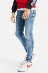 WE Fashion Blue Ridge skinny jeans mid blue, Mid blue