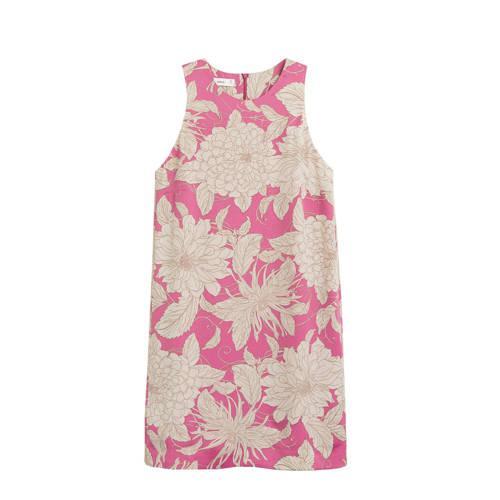 Mango gebloemde jurk roze, Deze damesjurk van Mango is gemaakt van polyester en heeft een bloemenprint. Het model beschikt over een ritssluiting. De mouwloze jurk heeft verder een ronde hals. De jurk heeft een voering.Extra gegevens:Merk: MangoKleur: RozeModel: Jurk (Dames)Voorraad: 2Verzendkosten: 0.00Plaatje: Fig1Plaatje: Fig2Maat/Maten: SLevertijd: direct leverbaar
