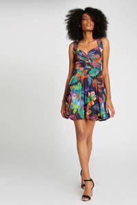 Morgan gebloemde jurk marine/multi, Marine/multi