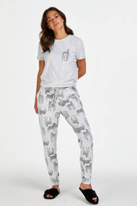Hunkemöller pyjamabroek met all over print grijs, Grijs