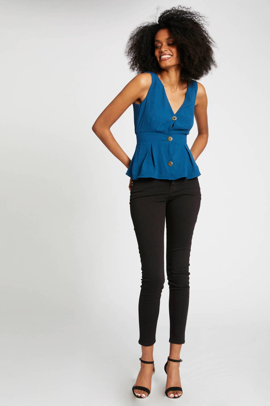 Morgan top blauw, Blauw