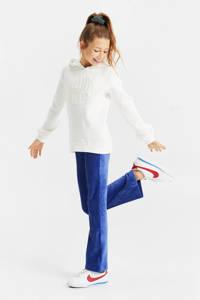 WE Fashion hoodie met tekst en borduursels wit, Wit