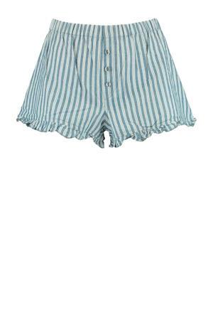 gestreepte pyjamashort Lill lichtblauw