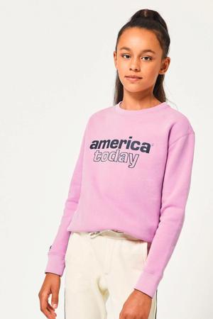 sweater Summer met logo roze