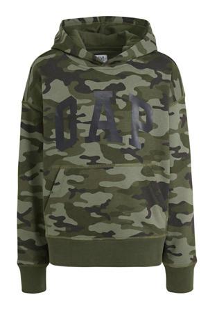 hoodie met camouflageprint groen camouflage