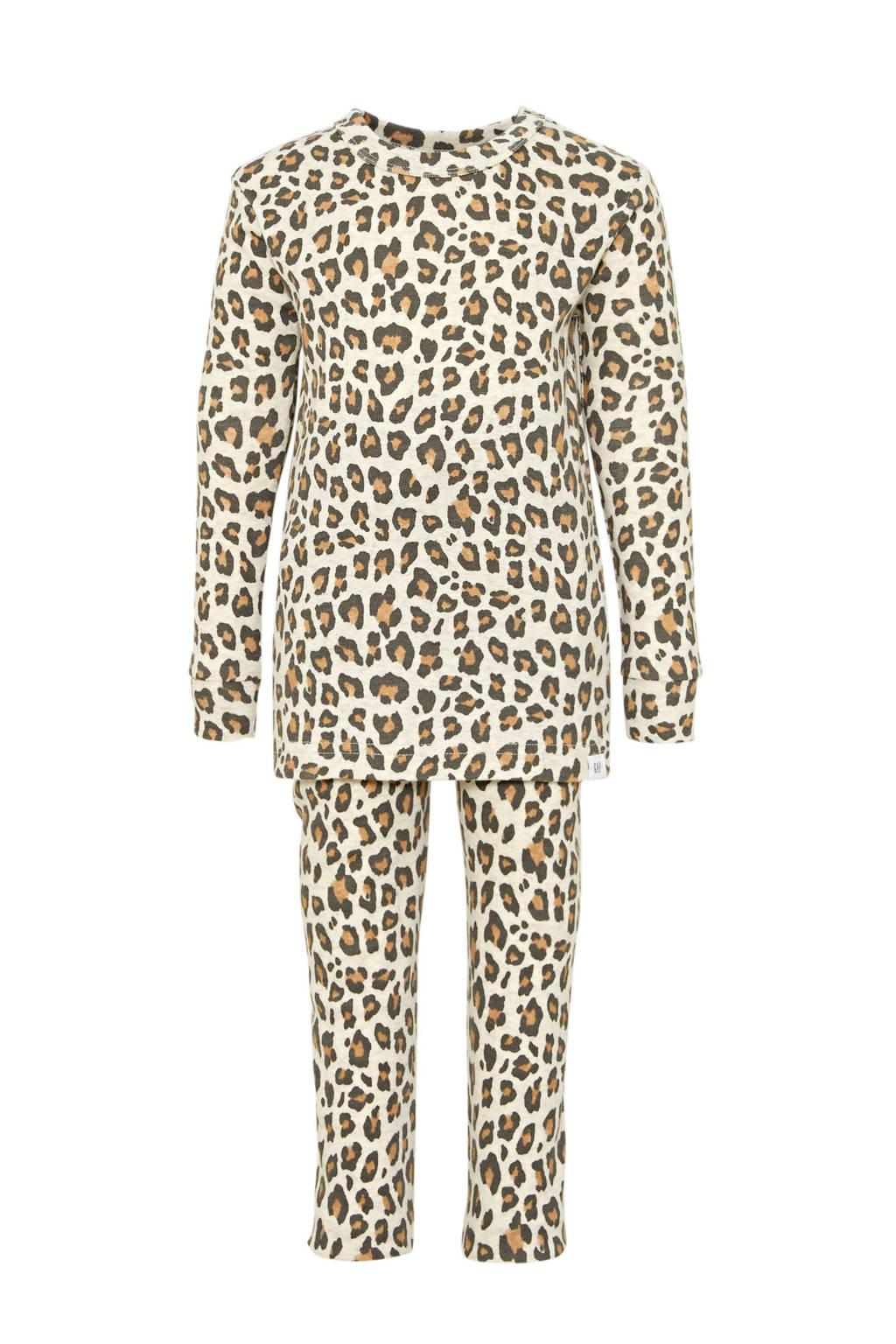 GAP pyjama luipaard beige, Beige/bruin