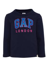GAP longsleeve met logo donkerblauw, Donkerblauw