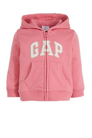 vest met tekst roze/wit