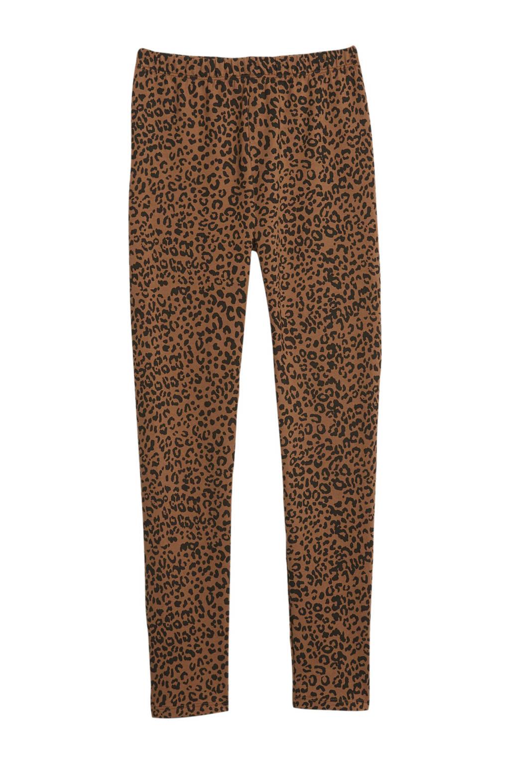 GAP legging met panterprint bruin/zwart, Bruin/zwart