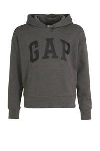 GAP hoodie met logo grijs, Grijs
