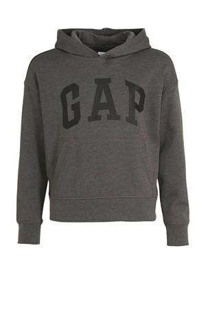 hoodie met logo grijs