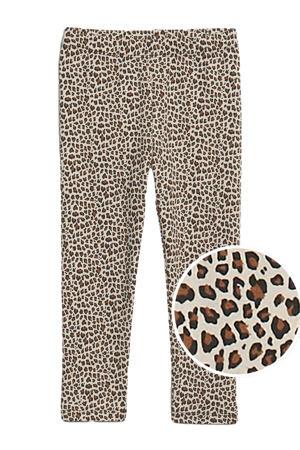 legging met panterprint bruin/zwart