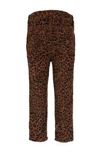 GAP baby corduroy regular fit broek met panterprint bruin/zwart, Bruin/zwart
