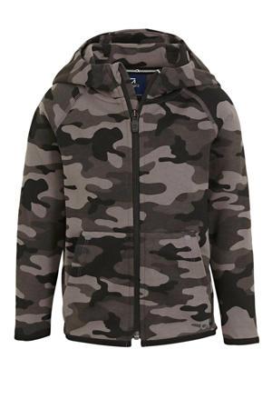 vest met camouflageprint antraciet/grijs/zwart