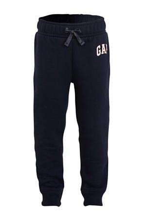 joggingbroek met logo donkerblauw